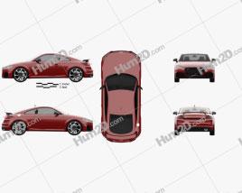 Audi TT RS coupe 2019 car clipart