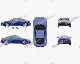 Audi TT S coupe 2018 car clipart