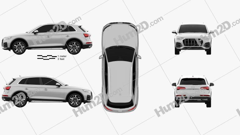 Audi Q5 2020 car clipart