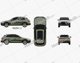 Audi Q5 S-line 2020 car clipart
