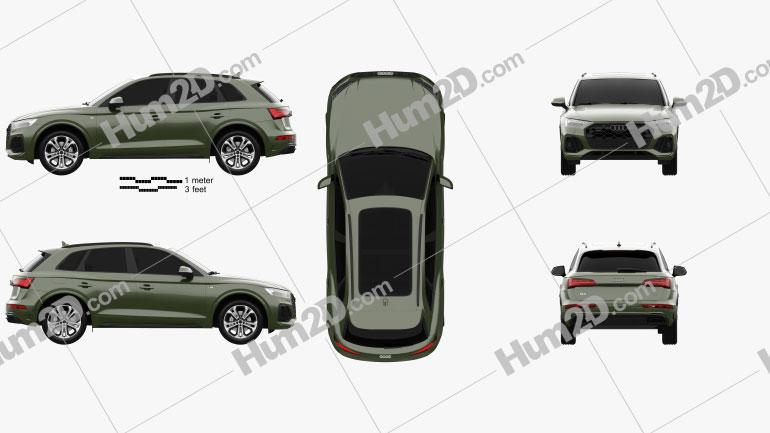 Audi Q5 S-line 2020 Clipart Image