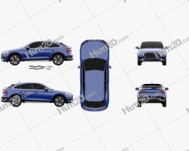 Audi Q5 Sportback S-line 2020 car clipart