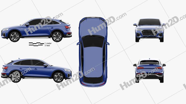 Audi Q5 Sportback S-line 2020 Clipart Image