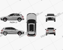Audi SQ5 2020 car clipart