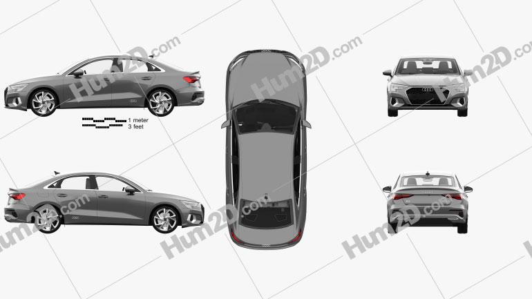 Audi A3 sedan com interior HQ 2020 car clipart