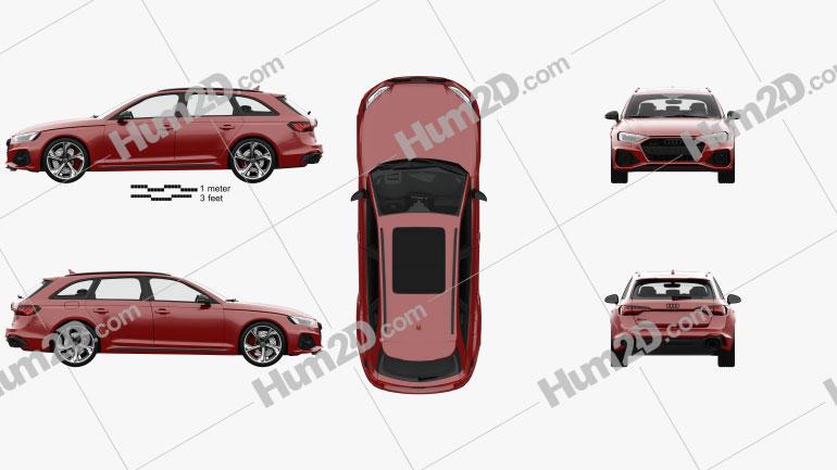 Audi RS4 avant com interior HQ 2021 car clipart