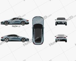 Audi e-tron GT 2021 car clipart