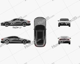 Audi e-tron GT RS 2021 car clipart