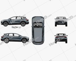 Audi Q4 e-tron concept mit HD Innenraum 2019 car clipart