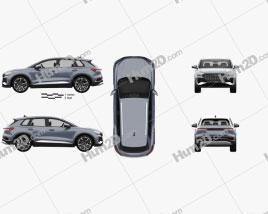 Audi Q4 e-tron S-line 2021 car clipart