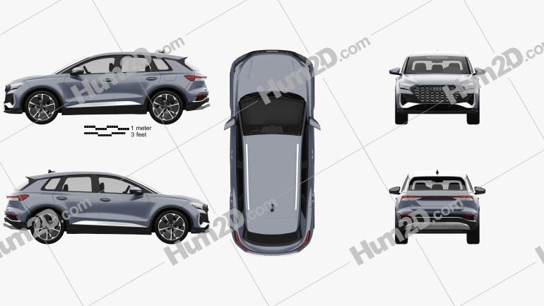 Audi Q4 e-tron S-line 2021 Imagem Clipart