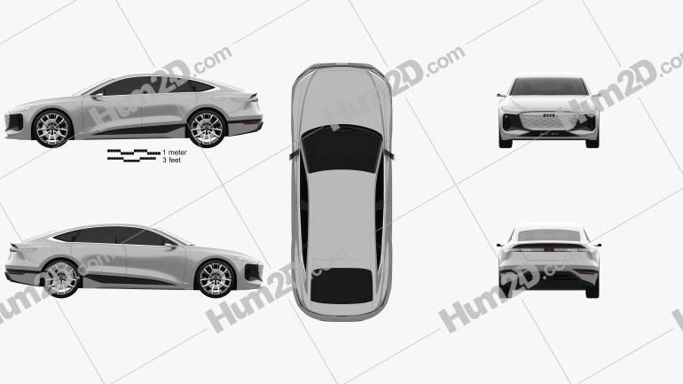 Audi A6 e-tron 2021 car clipart