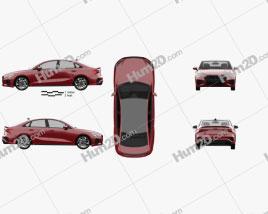 Audi S3 Edition One sedan 2020 car clipart