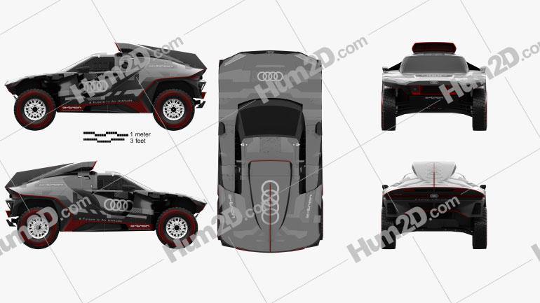 Audi RS Q e-tron Dakar Rally 2022 car clipart