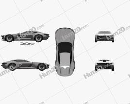 Audi Skysphere 2022 car clipart