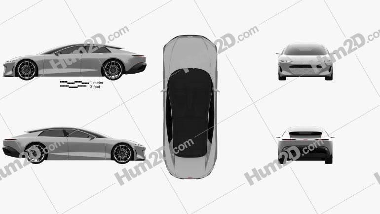 Audi Grandsphere 2021 car clipart