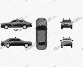Aurus Senat Guard sedan 2018 car clipart