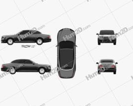 Aurus Senat convertible 2019 car clipart