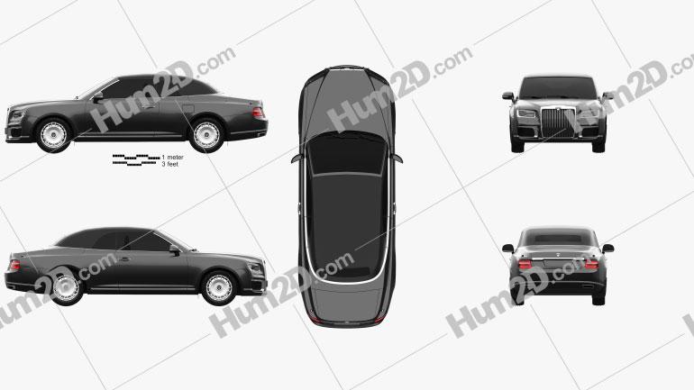 Aurus Senat convertible 2019