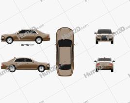 Aurus Senat sedan 2018 car clipart