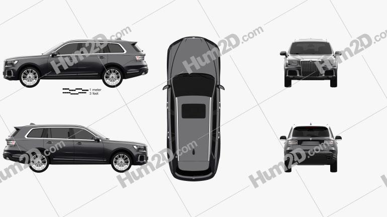 Aurus Komendant 2020 car clipart