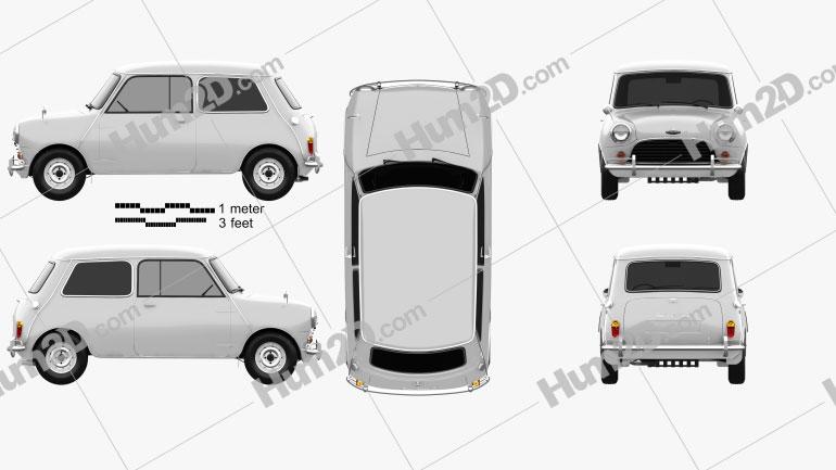 Austin Mini Cooper S 1964 car clipart