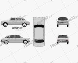 Austin 1800 1964 car clipart