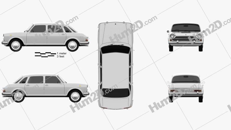 Austin 1800 1964 Clipart Image
