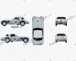 Austin-Healey 3000 Rally 1964 Clipart