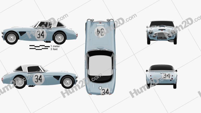 Austin-Healey 3000 Rally 1964 car clipart