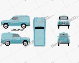 Austin A35 Van 1956 clipart