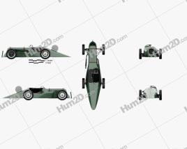 Austin 7 Blaue Maus Special 1929 Clipart
