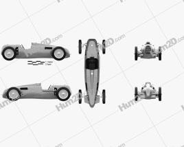 Auto Union Typ C 1936 Clipart