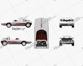 Autobianchi Runabout Bertone 1969 Clipart