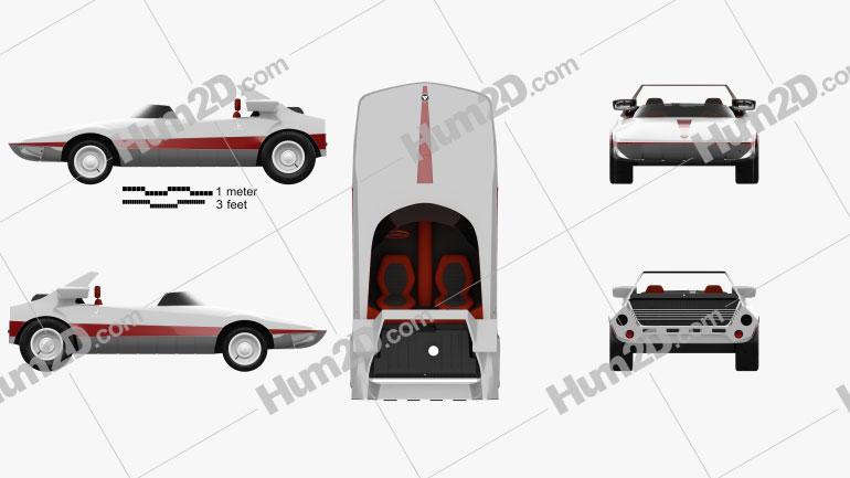 Autobianchi Runabout Bertone 1969 Clipart Image