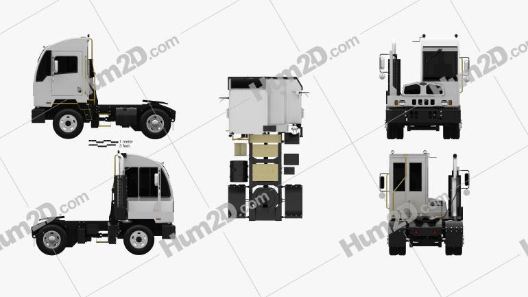 Autocar ACTT Terminal Tractor Truck 2021 clipart
