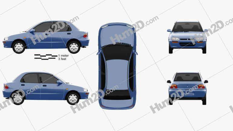 Autozam Revue 1990 car clipart