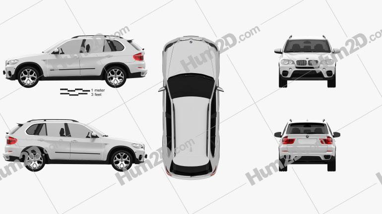 BMW X5 E70 2011 Clipart Image