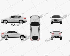 BMW X6 2011 car clipart