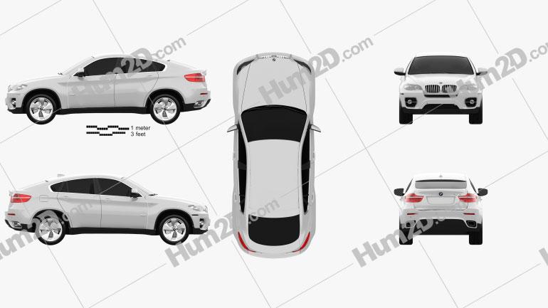 BMW X6 2011 Clipart Image