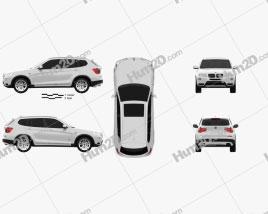 BMW X3 2011 car clipart