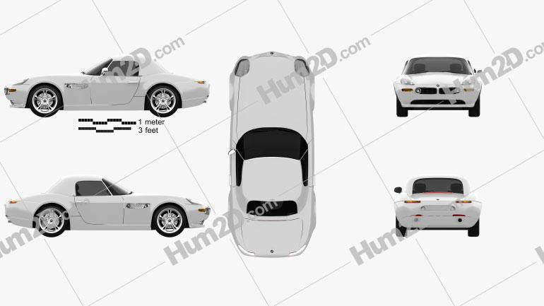 BMW Z8 (E52) Clipart Image
