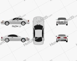BMW 8 Series (E31) 1999 car clipart