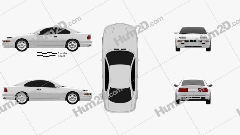 BMW 8 Series (E31) 1999 Clipart Image