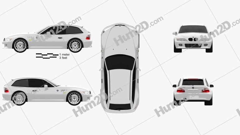BMW Z3 coupe (E36/8) 1999 car clipart