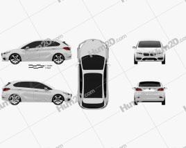 BMW Active Tourer concept 2012 car clipart