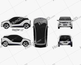 BMW i3 concept 2012 Clipart