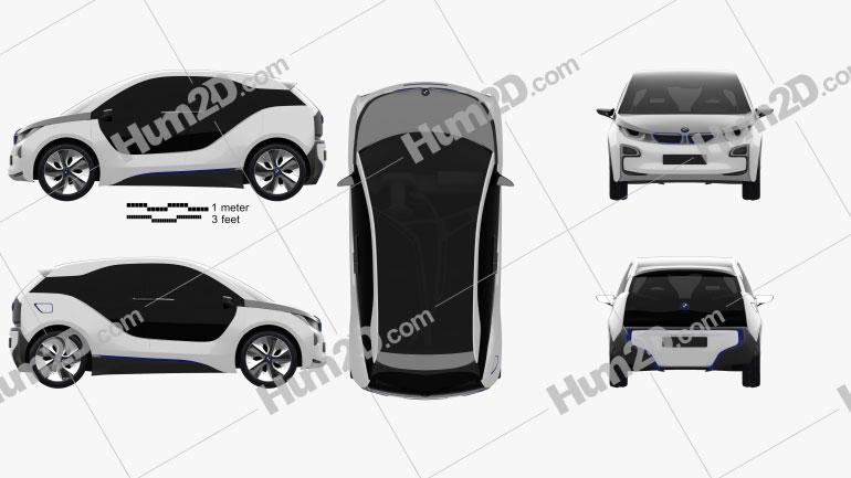 BMW i3 concept 2012 car clipart