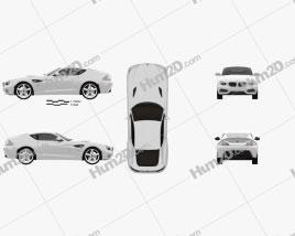 BMW Zagato Coupe 2012 car clipart