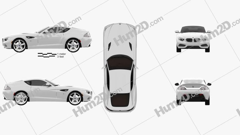 BMW Zagato Coupe 2012 Clipart Bild